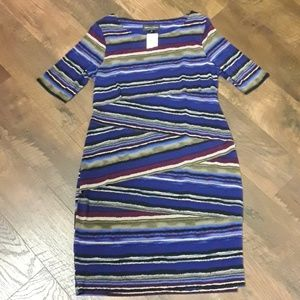 CONNECTED APPAREL NWT SIZE 12 BLUE DRESS